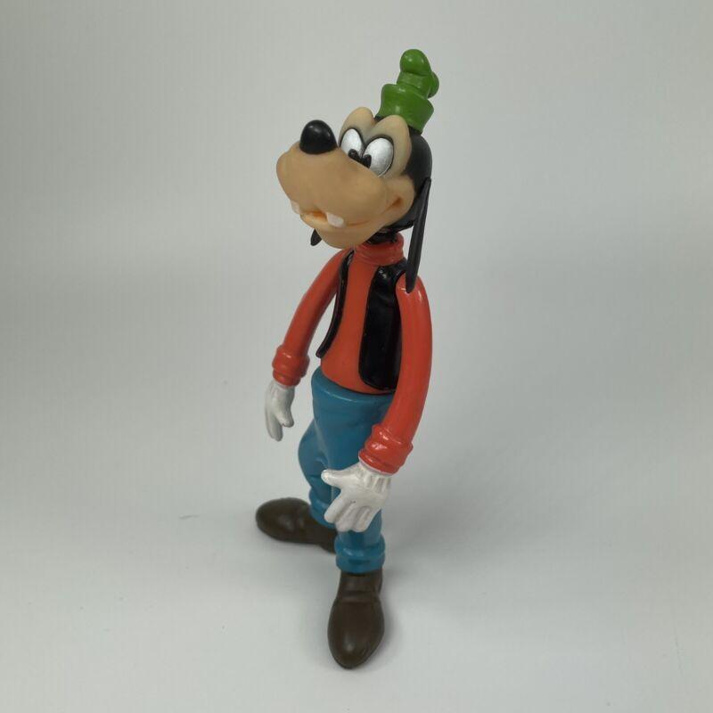 """Vintage Walt Disney Productions Goofy Plastic Moveable Figure 6"""" Hong Kong"""