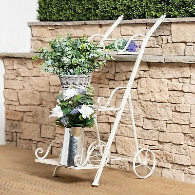 Wrought Iron Decorative Tiered Ladder Flower and Plant Stand