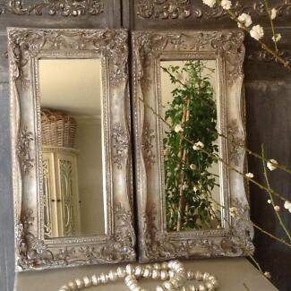 """SOLD... """"The Devil Wears Prada!!""""  Pair French Vintage Mirrors Butler Wanneroo Area Preview"""