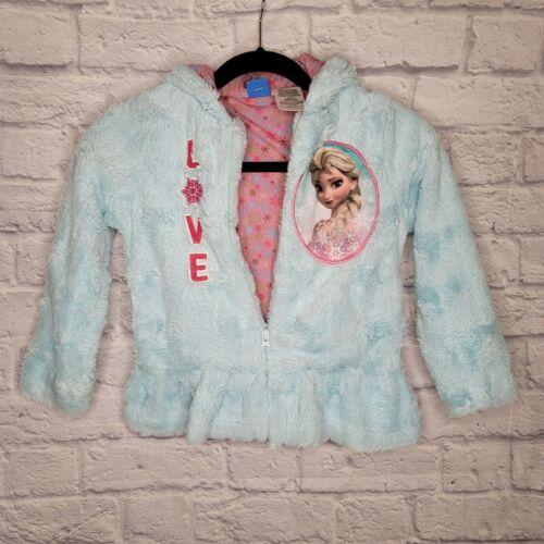 Light Blue Disney Elsa Fluffy Jacket/teddy coat