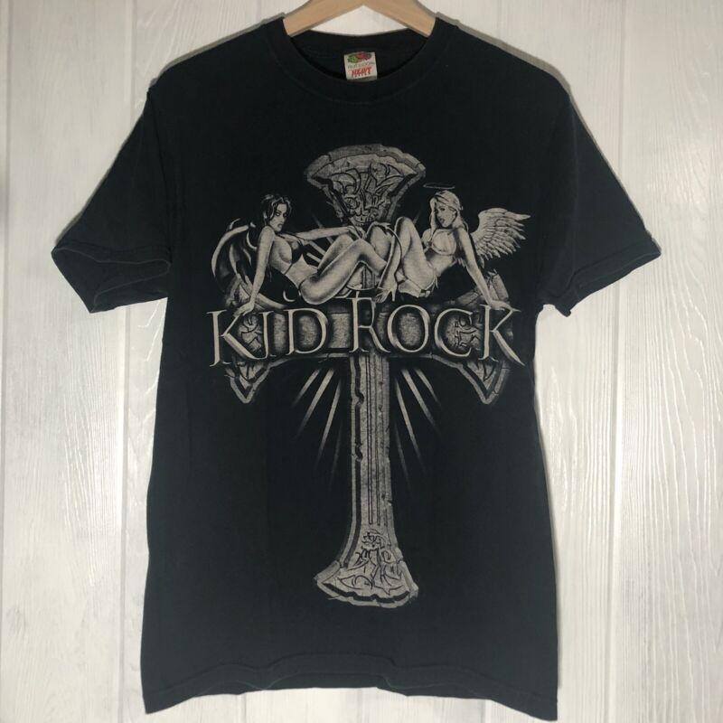 Kid Rock 2008 Rock N Revival Concert Tee T-Shirt Tour Dates Medium Black