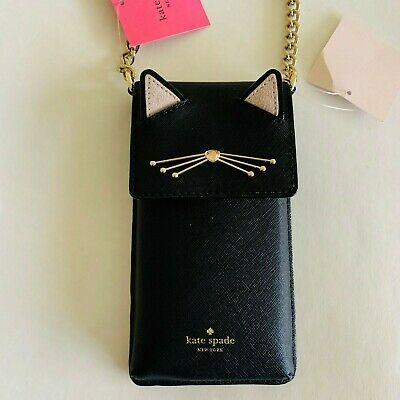 Kate Spade New York North South phone crossbody Black Cat $128.00, iphone case