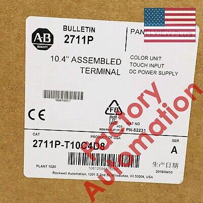 20182019 Us Stock Allen-bradley Panelview Plus Terminal 2711p-t10c4d8
