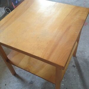 Square table with shelf