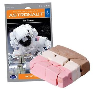 Astronaut Ice Cream - Neopolitan Flavor - Freeze Dried Dehydrated Space Man Food