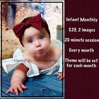 Monthly photo session for infants