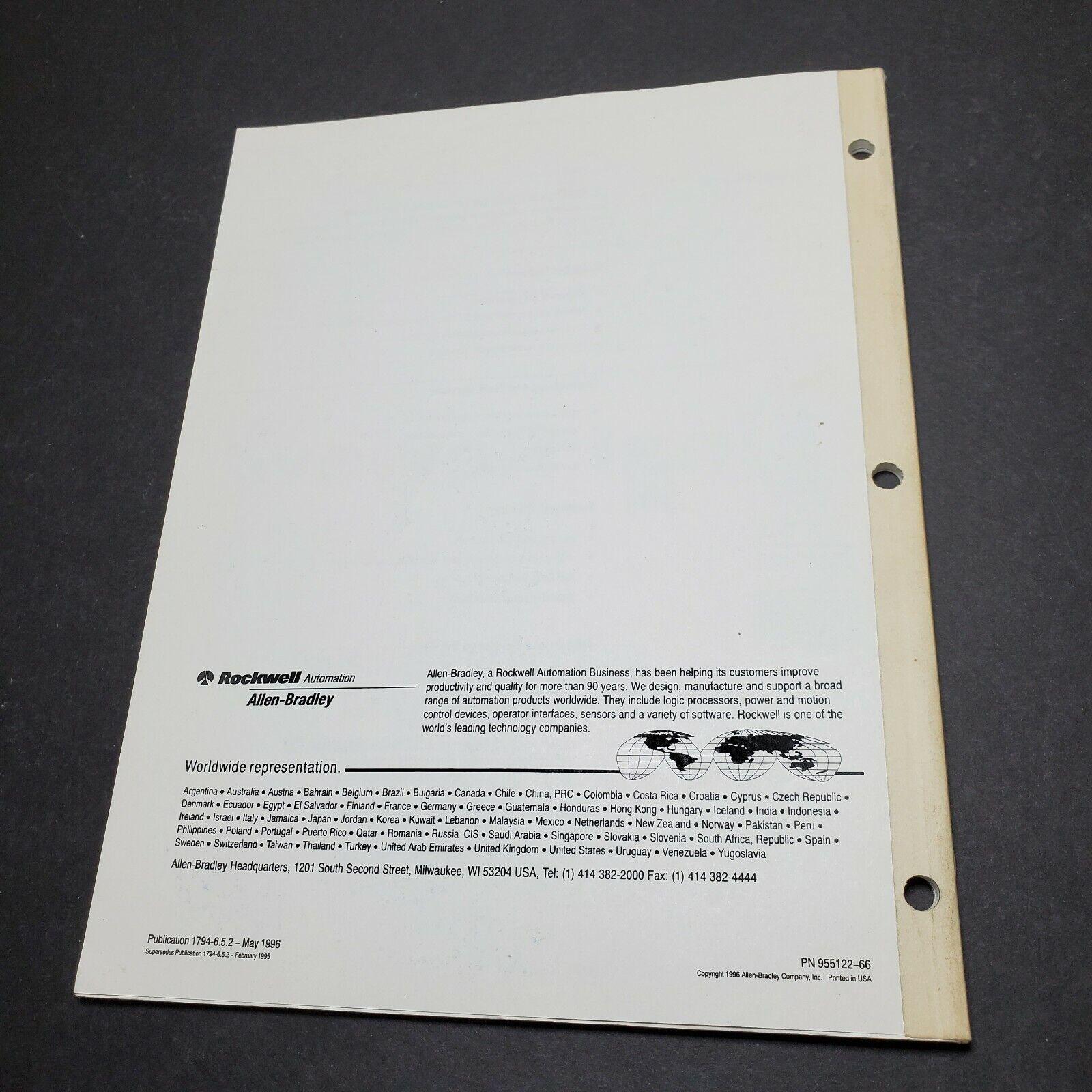Allen-Bradley Flex I/O Analog Modules Cat No 1794-IE8 -OE4 Ser B User Manual - $19.95