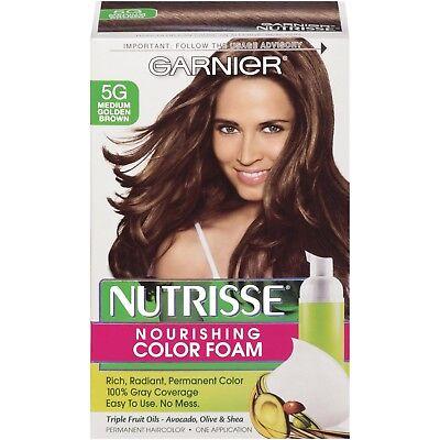 Garnier Nutrisse Nourishing Color Foam Hair Color 5G Medium Golden Brown ()
