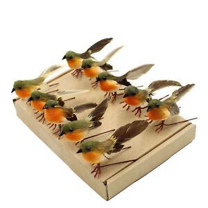 10PCS Robin Bird Christmas Tree Decoration Craft VERY CUTE Artificial