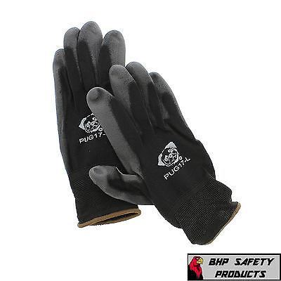 12 Pair Global Glove Pug17-l Polyurethane Coated Anti-static Work Gloves Large