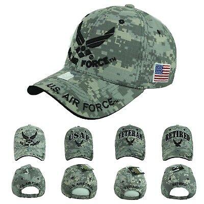 USA AIR Force Baseball Cap US Air Force USAF Veteran Retired Hats CAMO Hat Caps