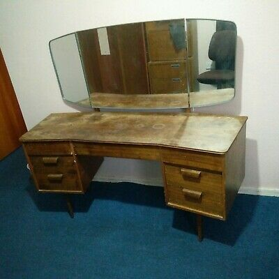 Mid Century Vintage/ Retro Dressing Table  with Mirror.