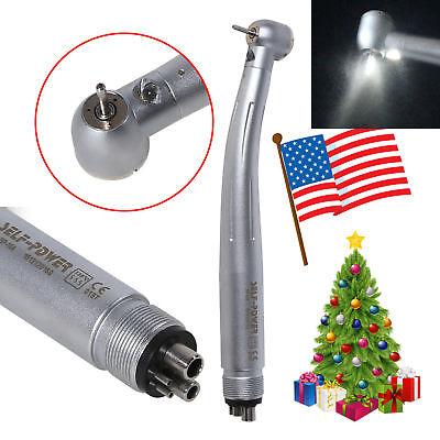 Dental E-generator Led Fiber Optic Handpiece Turbine Push 4 Hole Fit Kavo Pdm