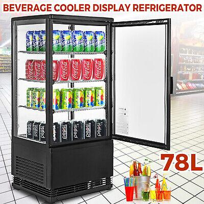 2.75cu.ft Commercial Beverage Refrigerator Glass Door Mini Dispaly Cooler Black