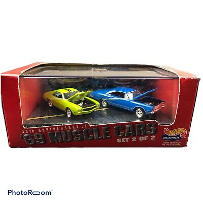 Hot Wheels 30th Anniversary 69' Muscle Cars Set 2 Of 2 Collectibles