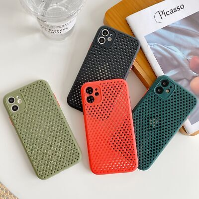 Ultra Slim TPU Mesh Heat Dissipation Hollow Phone Case for iPhone 7 8 Plus X 6S