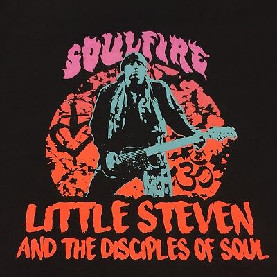Soulfire Medium Blue T-shirt Little Steven And The Disciples Of Soul 2017 (Little Steven And The Disciples Of Soul Tour)