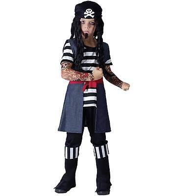 Tattoo Pirat Kostüm  Gr.122/134 cm Jungen Seeräuber Karibik Piratenkostüm ()