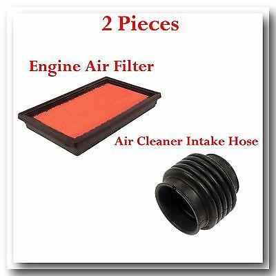 2 Pcs Air Intake Hose  Air Filter Fits I30 1996 2001 Maxima 1995 2001 30L