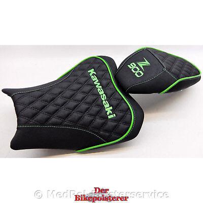 Kawasaki Z 900 Komfort-Sitzbank: Gel-Einlage, 2fach Stickerei und Rautensteppung