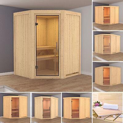 Karibu Sauna Sinai 3 40mm Mit Bio Ofen 9kw Extern