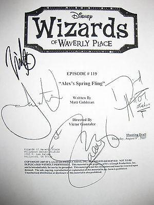 Wizards of Waverly Place Signed TV Script X4 Stone Austin Selena Gomez reprint