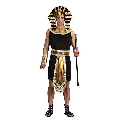 Egyptian King Egypt Pharoah Tutankhamun Historic Adults Mens Fancy Dress Costume - King Costumes Adults