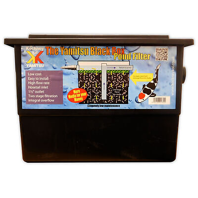 Kockney Koi Black Box Mega Filter Basic Fish Pond Filter System Yamitsu Garden