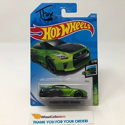 '17 Nissan GT-R R35 Guaczilla #61 * Green * 2019 Hot Wheels Case Q