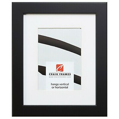 26273 24x32 black satin picture frame matted