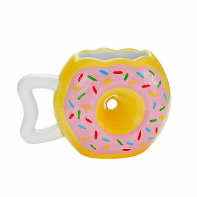 Donut Mug 12oz Coffee Tea & Cocoa Novelty Breakfast Food Gag Gift Ceramic Cup ()
