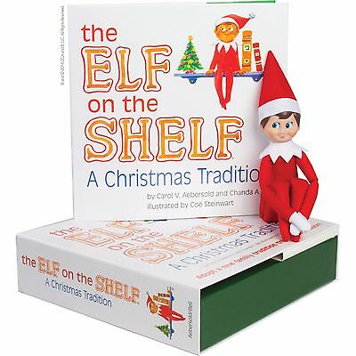 Elf On The Shelf   A Christmas Tradition Blue Eyed Boy Light Skinned Scout Elf