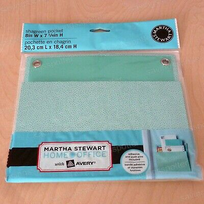 Martha Stewart Home Office With Avery Small Shagreen Wall Pocket 8 X 7-14 Blue