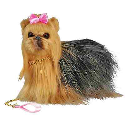 Realistic Yorkie Dog,Collar and Leash For 18 Inch American Girl Dolls Puppy Pet