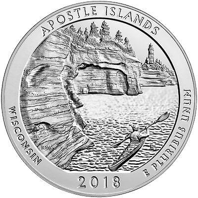 2018 ATB 5oz Silver Apostle Islands National Lakeshore Bullion Coin