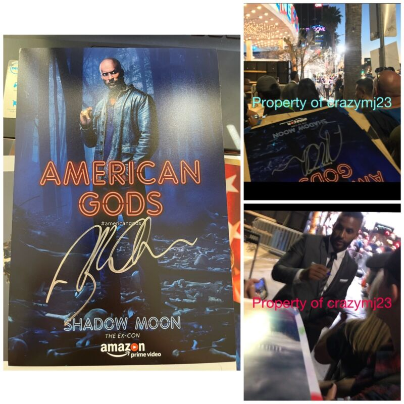Ricky Whittle Signed American Gods Shadow Moon Starz Show Autograph the 100 Auto