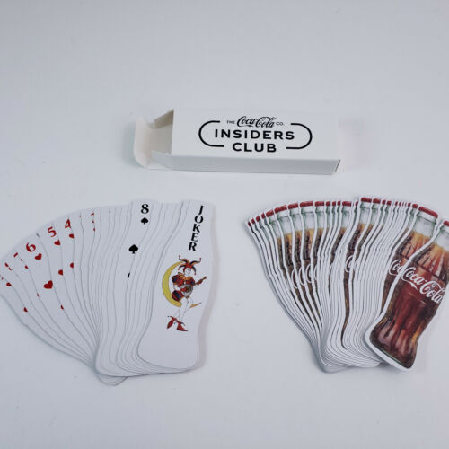Coca Cola Coke Insiders Club 2021 Bottle Shaped Contour Playing Cards Deck NEW