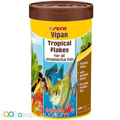 Sera Vipan 250mL Tropical Fish Food Flakes Fast Free USA (250 Ml Food)
