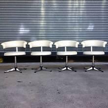 Retro Ultra Designer Vintage White Swivel Chairs x 4 original Balgowlah Manly Area Preview