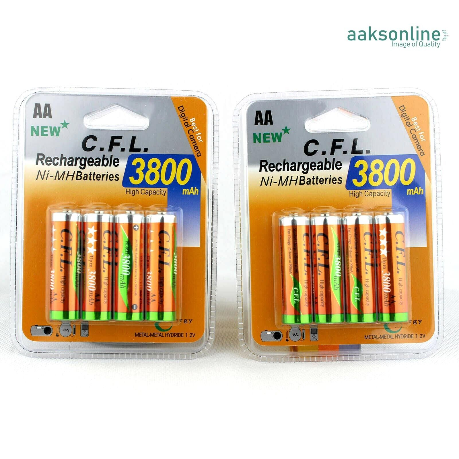 8x AA 3800 mAh AKKU NI-MH Wiederaufladbar Accu Rechargeable Batterien Mignon TOP