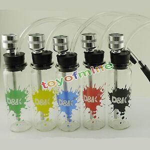 1PC Bottle Water Pipe Mini Hookah Shisha Tobacco Smoking Pipes Metal Tube Filter
