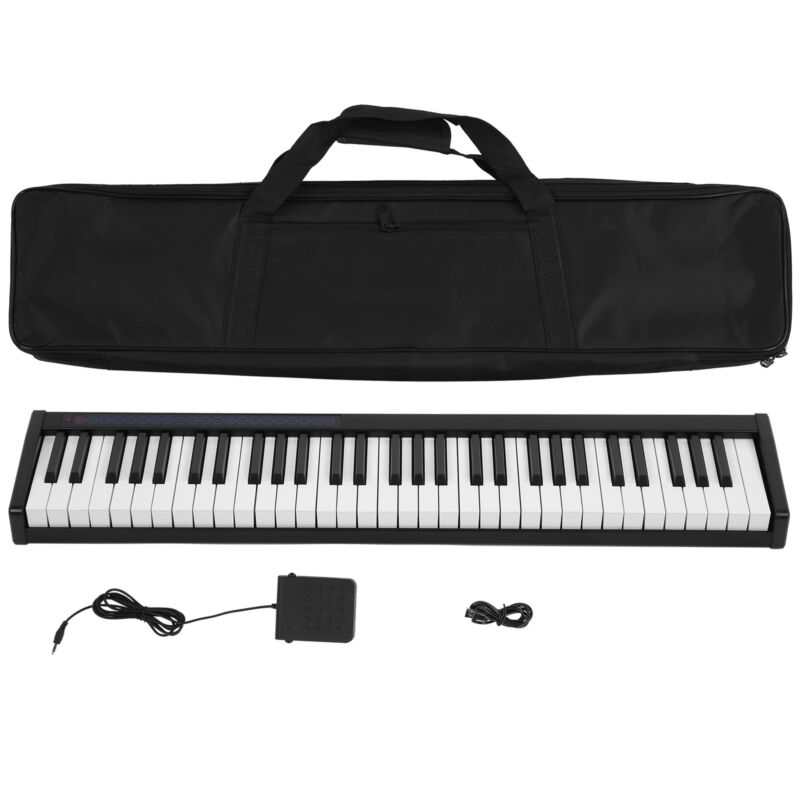128 Keys Beginner Professionals Electric Digital 61 Key Tapes Piano Dual Channel