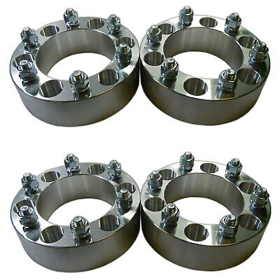 "Four 6 x 5.5 139.7 Wheel Spacers 12x1.5mm 2"" fit K10 K15 Frontier Titan Wagoneer"
