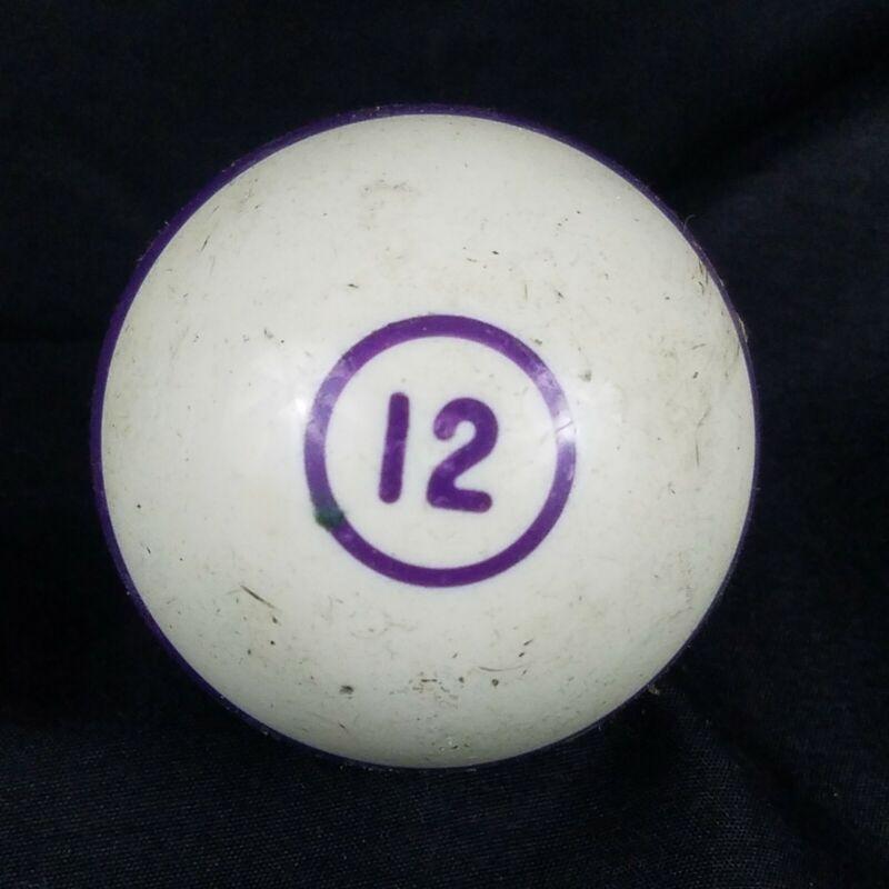 "Single Replacement Pool Billiard Ball 12 Purple Stripe Regulation Size 2 1/8"""