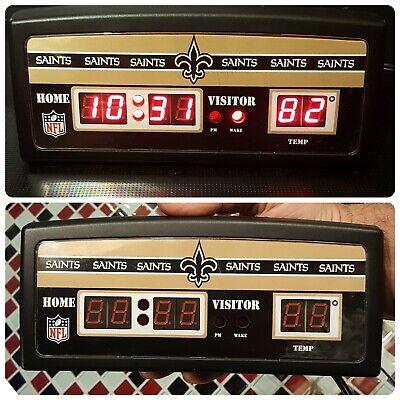 NFL ~ New Orleans SAINTS ~ Scoreboard Table Desk Alarm Digital Clock ~ Football