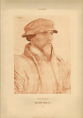 large reproduced  portraits from  the court of henry v111 . sir john gage