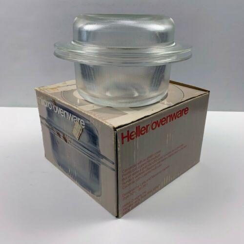 Vignelli Heller Microwave Ovenware 1 quart Casserole with Box Vintage Design