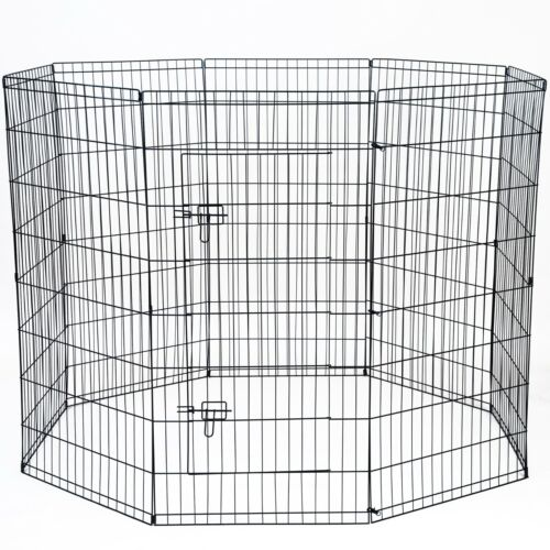 """48"""" Tall Wire Fence Pet Dog Folding Exercise Yard 8 Panel Metal Playpen"""