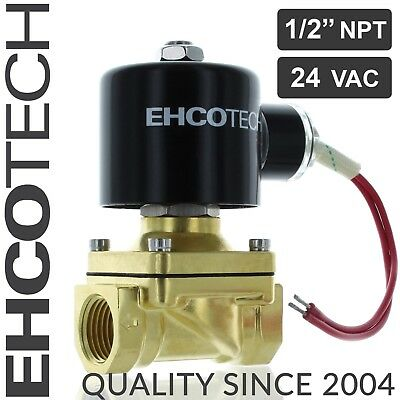 12 Npt 24v Ac Brass Electric Solenoid Valve 24-volt Ac Water Air Gas Viton Nc