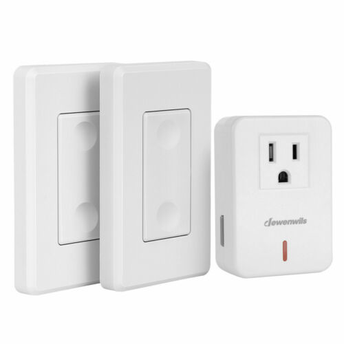 DEWENWILS Wireless Remote Control Light Switch and Outlet Plug in 100ft RF Range
